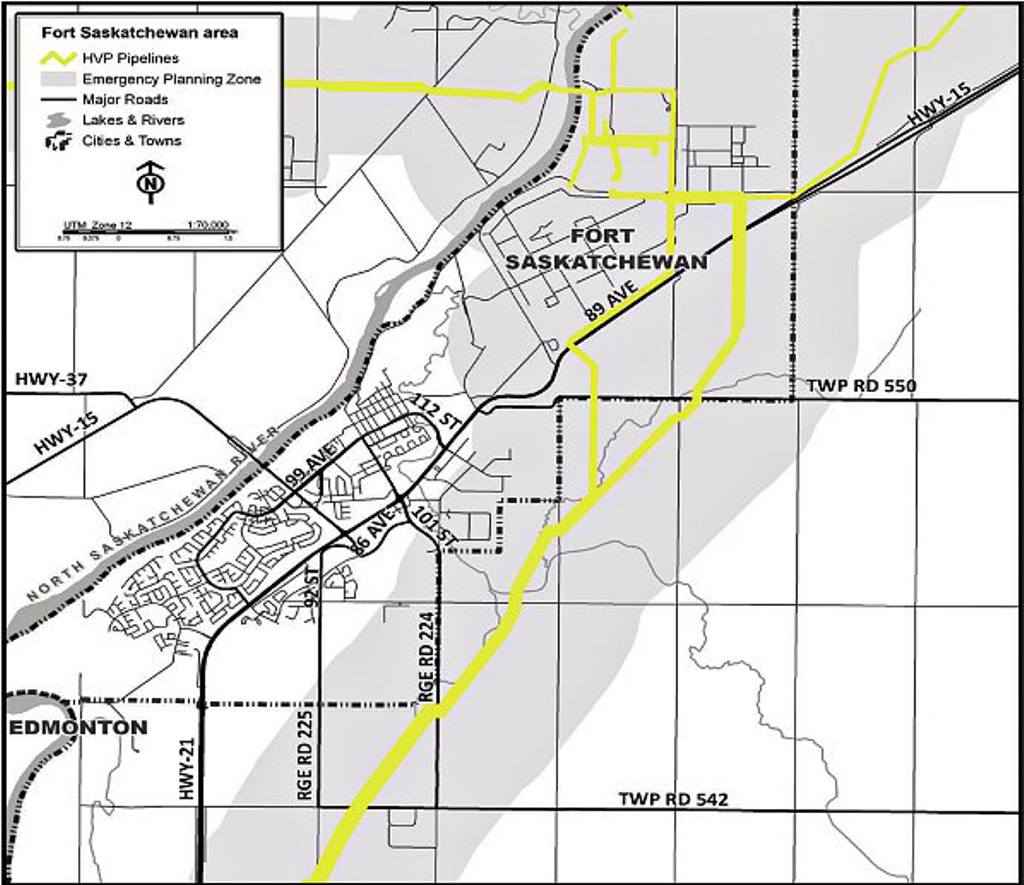 fort saskatchewan map